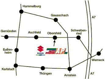 Anfahrtsbeschreibung Autogas Zentrum Mainspessart